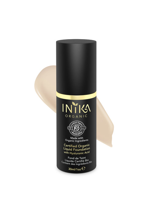 INIKA Organic Liquid Foundation with Hyaluronic Acid