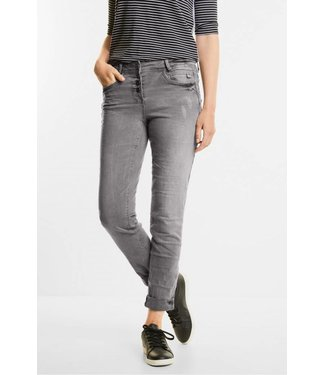 Cecil Washed Grey Denim Scarlett - Mid Grey Used Wash