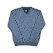 V-Neck Jumper - Jeans Blue