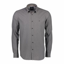 Overhemd Allover Print - Rock Grey