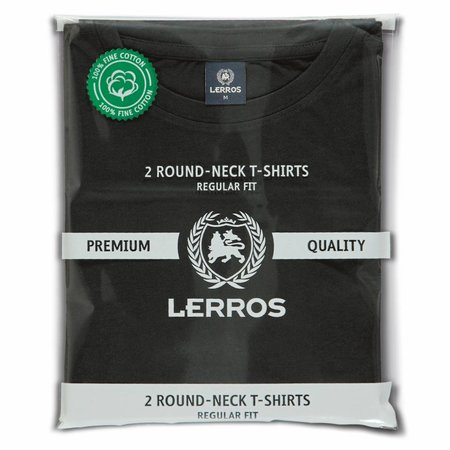 Lerros Lerros T-shirt Pakket (Ronde Hals) - Zwart