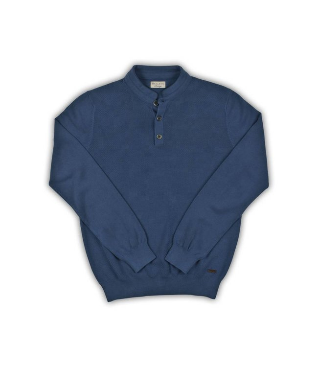 Baileys Structured Sweater - Blue