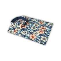Shirt with Tropical Print - Blue