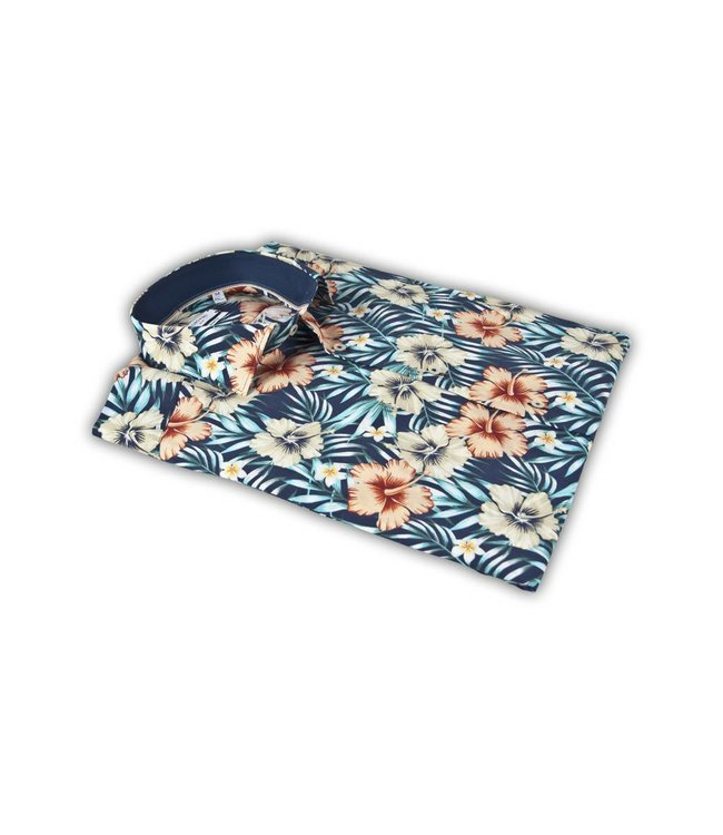 Giordano Shirt with Tropical Print - Blue