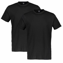 Two-Pack T-shirts (Round Neckline) - Black