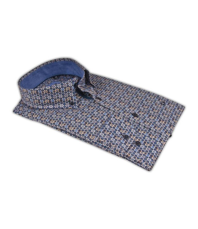Giordano Shirt with Dots - Blue