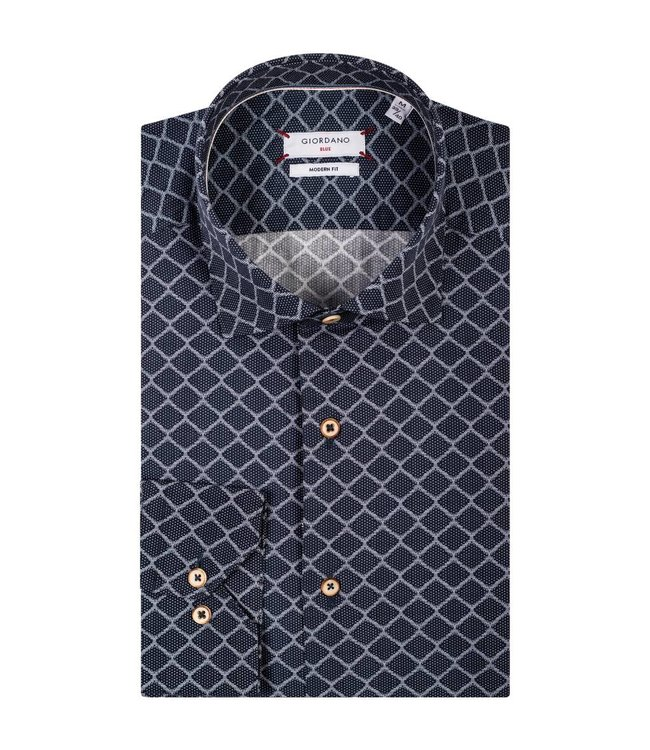 Giordano Shirt with Graphic Print - Blue