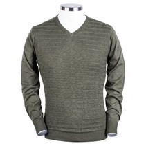 V-Neck Sweater Structure - Green