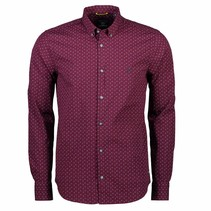 Shirt Allover Print - Wine Red