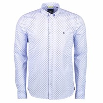 Shirt Allover Print - Light Blue