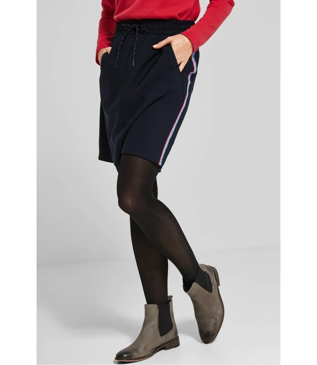 Cecil Sporty Skirt with Stripes - Deep Blue