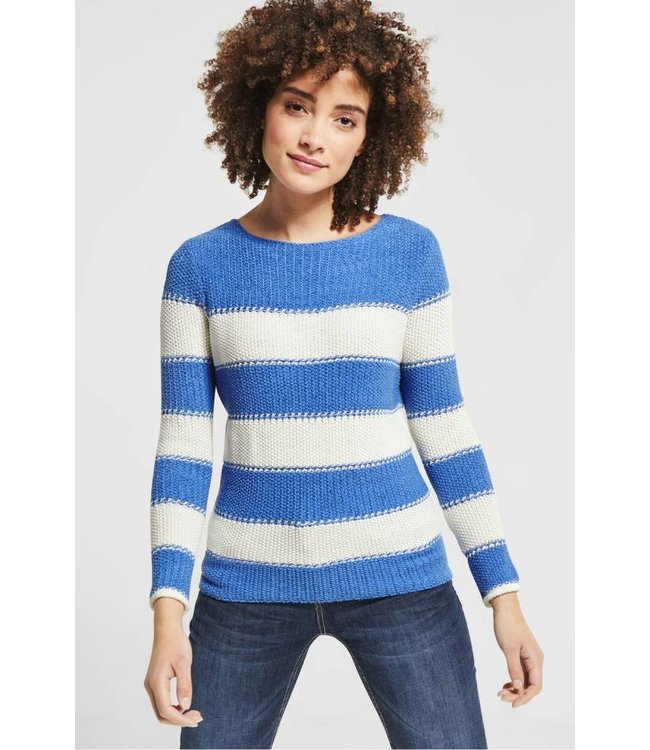 Street One Knitted Sweater - Sky Blue