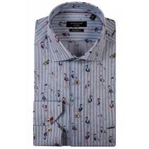 Shirt with Flamingo's - Blue