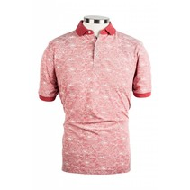 Piqué Polo Shirt with Flowers - Pink