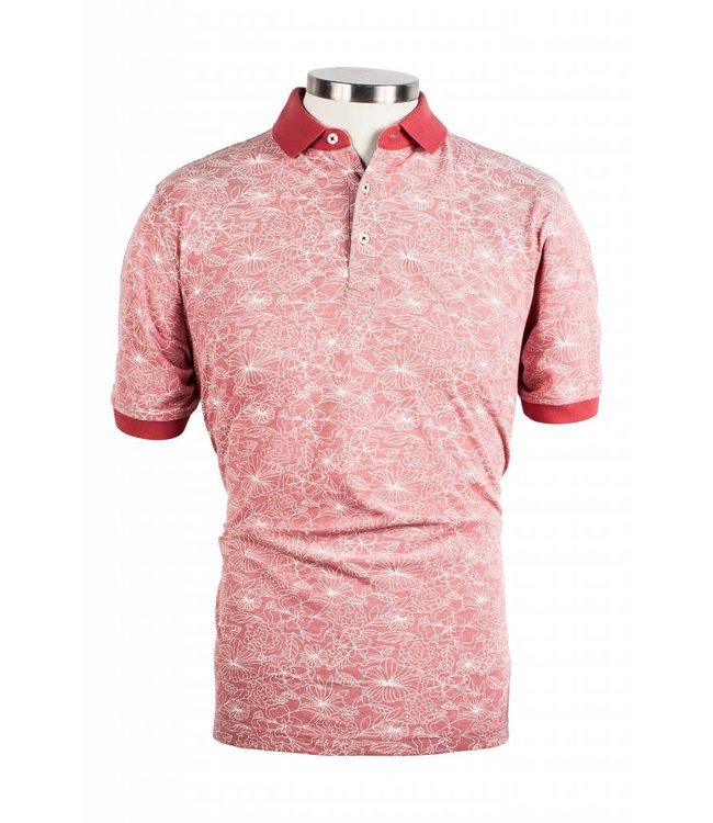 Baileys Piqué Polo Shirt with Flowers - Pink