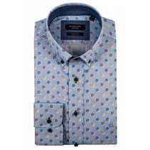 Shirt Short Sleeve with Dots - Blue