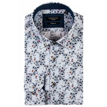 Shirt with Flowers - Light Blue
