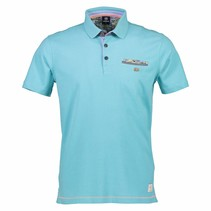Korte Mouw Polo - Light Blue