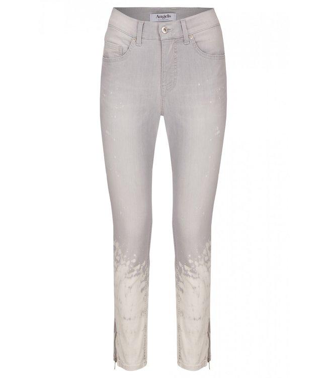 Angels Jeanswear Skinny Ankle Zip - Light Grey Batik