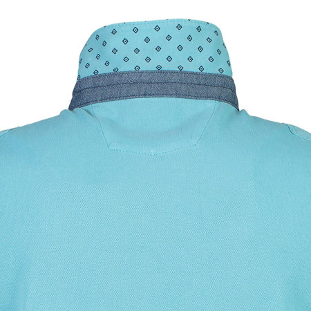 Lerros Korte Mouw Polo in Piqué - Light Blue