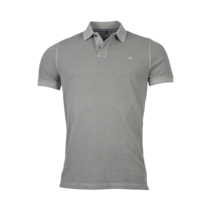 Basic Piqué Polo Shirt - Grey