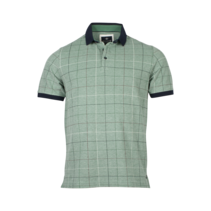 Piqué Polo Shirt with Check Print - Green