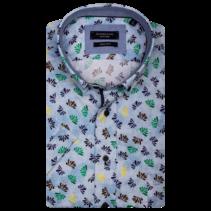 Overhemd Korte Mouw en Print - Blue