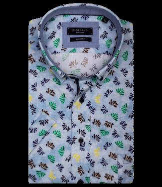 Giordano Shirt Short Sleeve with Print - Blue