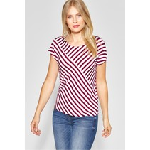 Striped Shirt Vivana - Wine Red