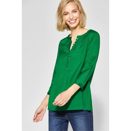Street One Transparente Blouse - Pure Green