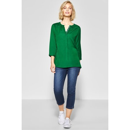 Street One Transparent Blouse - Pure Green