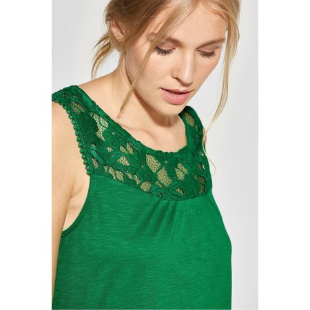 Street One Shirt mit Spitze Vicky - Pure Green
