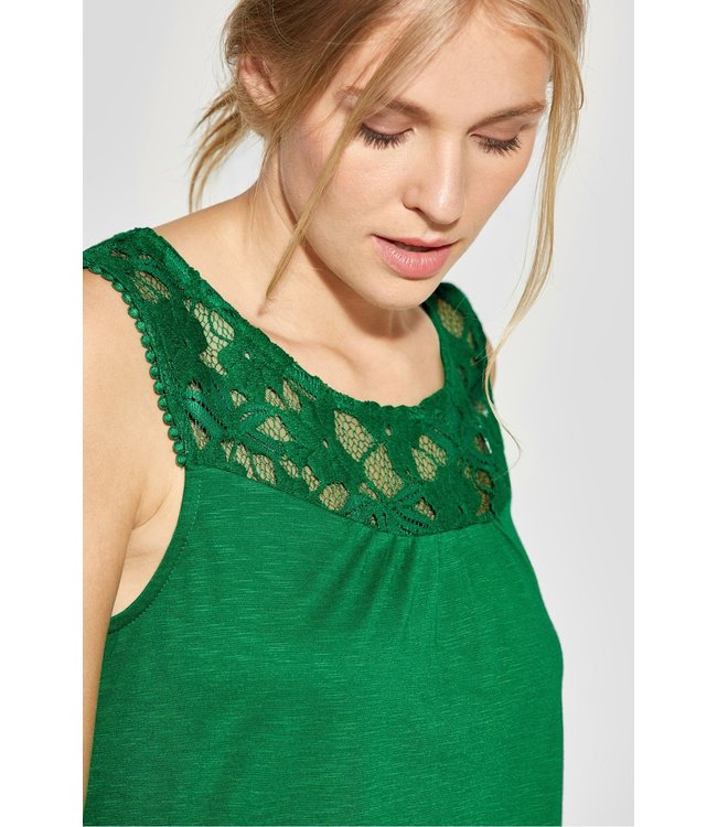 Street One Shirt met Kant Vicky - Pure Green
