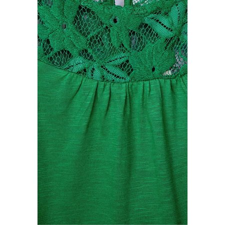 Street One Shirt with Lace Vicky - Pure Green