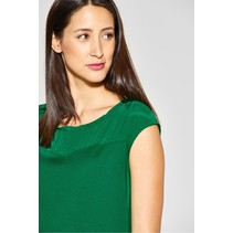 Shirt with Ruffles - Pure Green