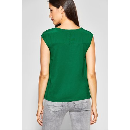 Street One Shirt with Ruffles - Pure Green