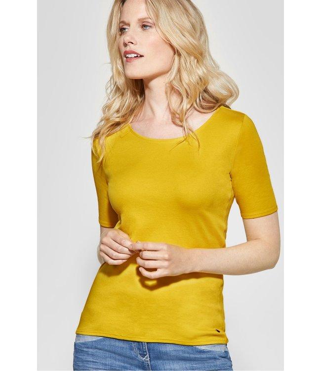 Cecil Organic Halbarmshirt Lena - Ceylon Yellow