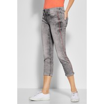 Casual Fit Denim Jane - Grey Heavy Acid Wash
