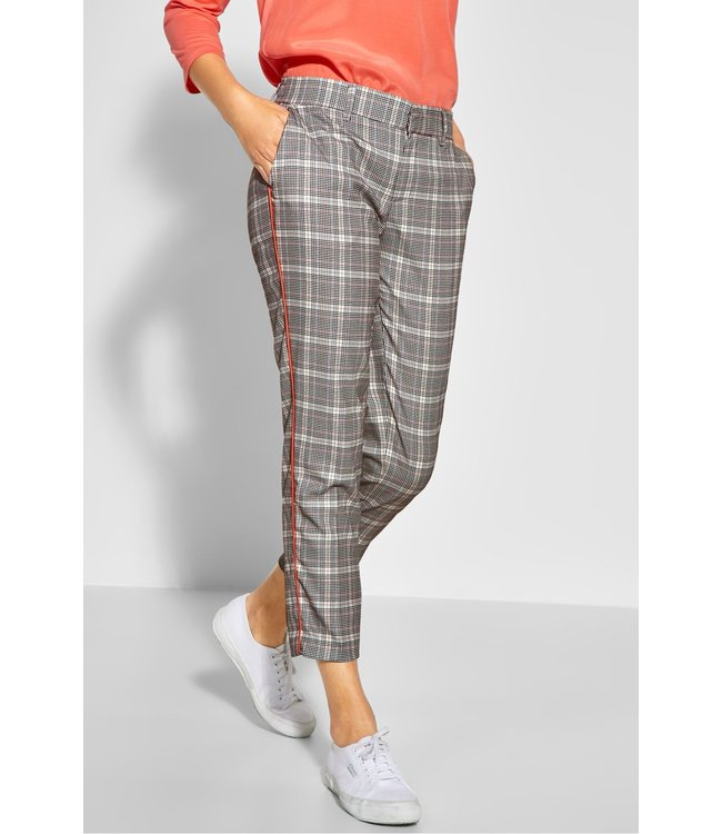 Street One Pants with Glencheck Jacky - Neo Grey