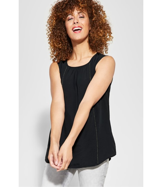 Street One Blouse with Pearls - Neo Grey