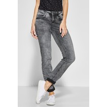 Casual Fit Jeans Jane - Black Overdyed Bleached