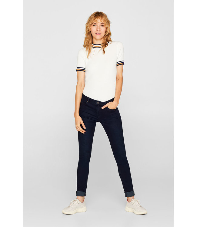 Esprit  Superstretch-Jeans in a Colored Look - Blue Rinse