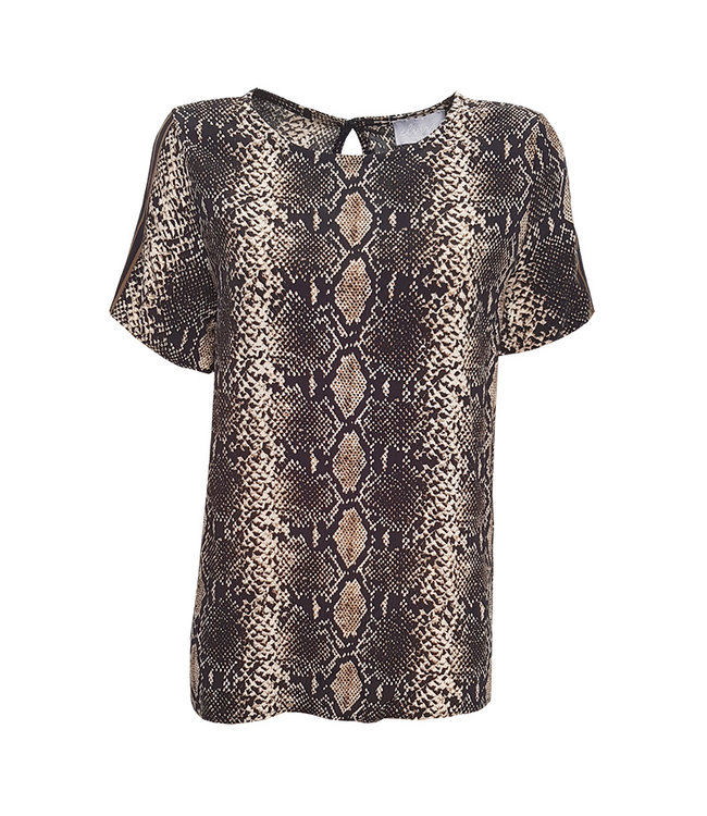 Elvira Collections Top Lieke - Nude Snake