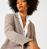 Esprit Stretch Blazer with Little Check Pattern - Camel