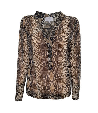 Elvira Collections Bluse Doortje - Nude Snake