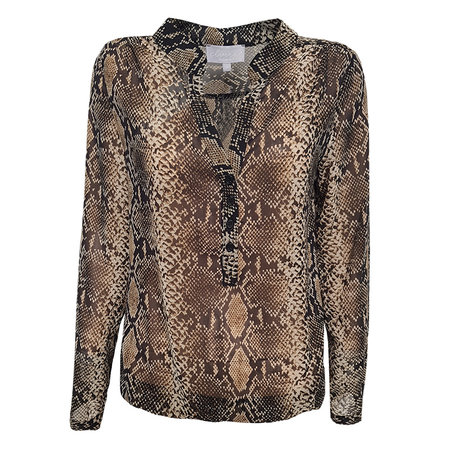 Elvira Collections Blouse Doortje - Nude Snake