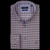 Overhemd met Print - Brown