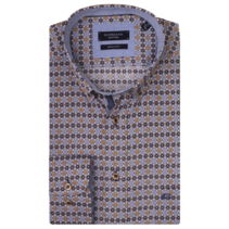 Shirt with Print - Brown