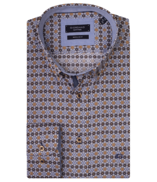 Giordano Overhemd met Print - Brown