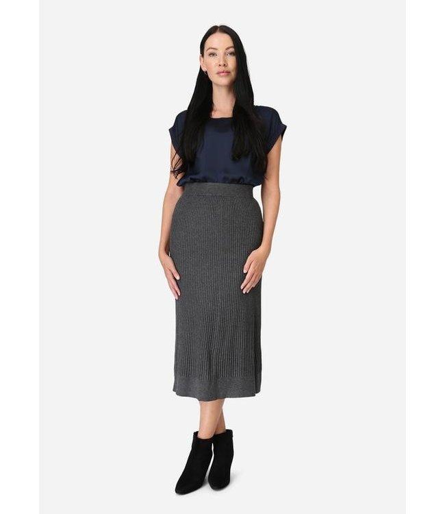 Soyaconcept Long Skirt Dollie 634 - Dark Grey Melange